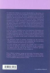 Dictionnaire du droit de l'union européenne (2e édition) - 4ème de couverture - Format classique