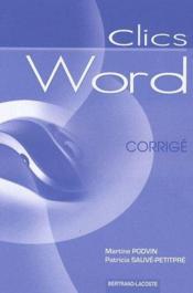 Word ; corrigé - Couverture - Format classique