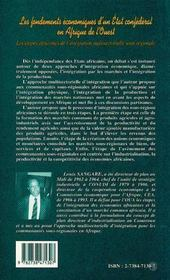 Les fondements économiques d'un état confédéral en afrique de l'ouest - 4ème de couverture - Format classique