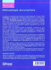 Methodologie Documentaire ; Comment Acceder A La Litterature Scientifique A L'Heure D'Internet - 4ème de couverture - Format classique