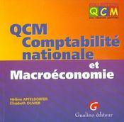 Qcm Compta Nat. Macroeconomie - Intérieur - Format classique