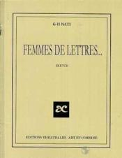 Femmes de lettres - Couverture - Format classique
