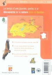 BALADES NATURE ; dans le parc naturel régional du Verdon - 4ème de couverture - Format classique
