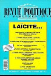 Revue Politique Et Parlementaire -Laicite - Couverture - Format classique