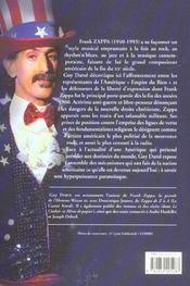 Frank Zappa Ou L'Amerique En Deshabille - 4ème de couverture - Format classique