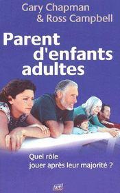 Parent d'enfants adultes ; quel rôle jouer après leur majorité ? - Couverture - Format classique