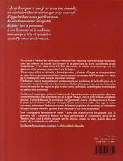 Vauban, un militaire très civil - 4ème de couverture - Format classique