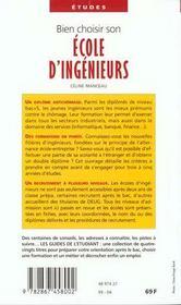 Bien choisir son école d'ingénieur (édition 1999) - 4ème de couverture - Format classique