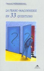 Franc-Maconnerie En 33 Questions (La) - Intérieur - Format classique