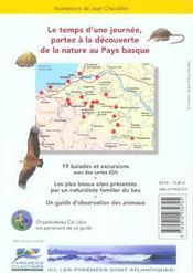 Balades Nature ; Au Pays Basque - 4ème de couverture - Format classique
