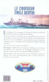 Le croiseur Emile Bertin ; 1940-1943 - 4ème de couverture - Format classique