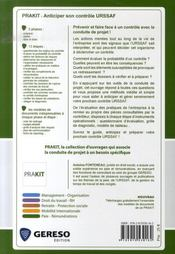 Anticiper son contrôle urssaf - 4ème de couverture - Format classique