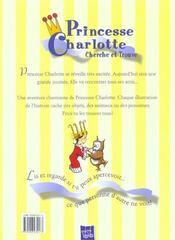 Journee Passionnante Princesse Charlotte - 4ème de couverture - Format classique