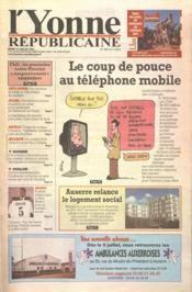 Yonne Republicaine (L') N°158 du 10/07/2001 - Couverture - Format classique