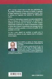 Telecommunications Et Infrastructure Liaisons Hertziennes Spatiales Optiques - 4ème de couverture - Format classique