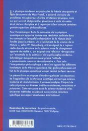 Physique Quantique Origines Interpretations Et Critiques - 4ème de couverture - Format classique