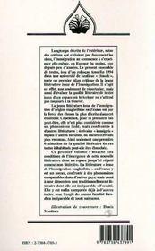 Litteratures Des Immigrations T.1 ; Un Espace Litteraire Emergent - 4ème de couverture - Format classique
