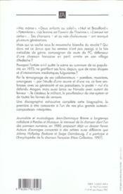 Jean ferrat - 4ème de couverture - Format classique