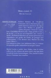 Mots croisés t.11 - 4ème de couverture - Format classique