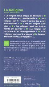 La religion - 4ème de couverture - Format classique