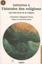 Initiation a l'histoire des religions - Couverture - Format classique