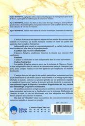 L'analyse de texte, preparation aux concours - 4ème de couverture - Format classique