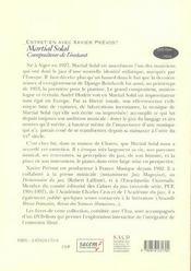 Martial Solal (+ Dvd Rom) - 4ème de couverture - Format classique