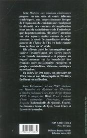 Histoire Des Missions Chretiennes - 4ème de couverture - Format classique