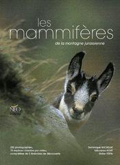 Les mammifères de la montagne jurassienne - Couverture - Format classique