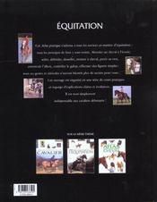 L'Equitation - 4ème de couverture - Format classique