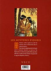 Les mystères d'Osiris t.2 ; l'arbre de vie t.2 - 4ème de couverture - Format classique