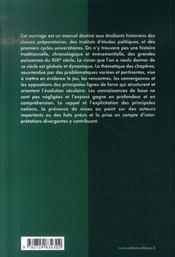 Manuel d'histoire du XIX siècle ; classes préparatoires IEP université - 4ème de couverture - Format classique