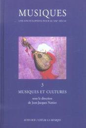 Musiques T.3 ; Musiques Et Cultures - Intérieur - Format classique