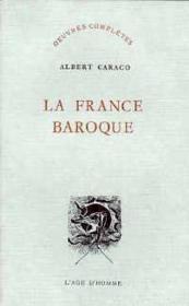 La France Baroque - Couverture - Format classique