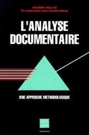 L'analyse documentaire ; une approche méthodologique - Couverture - Format classique