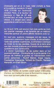 Paroles De Lumiere - 4ème de couverture - Format classique