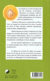 Le Manuel D'Utilisation Du Pamplemousse - 4ème de couverture - Format classique