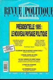 Le Nouveau Paysage Politique (Mars-Avril 1995) - Couverture - Format classique