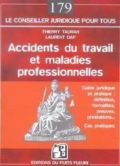 Accidents Du Travail Et Maladies Professionnelles.Cadre Juridique & Pratique :Definition,Formalites - Intérieur - Format classique