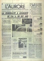 Aurore (L') N°9166 du 20/02/1974 - Couverture - Format classique