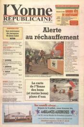 Yonne Republicaine (L') N°163 du 17/07/2001 - Couverture - Format classique