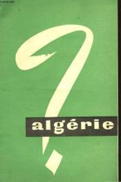 Algerie - Couverture - Format classique