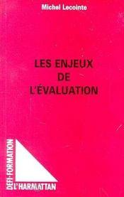 Les Enjeux De L'Evaluation - Intérieur - Format classique
