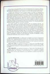 Services Et Metropoles ; Formes Urbaines Et Changement Economique - 4ème de couverture - Format classique