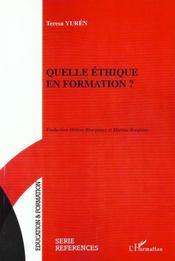 Quelle Ethique En Formation - Intérieur - Format classique