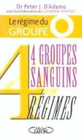 Regime Du Groupe O - Couverture - Format classique