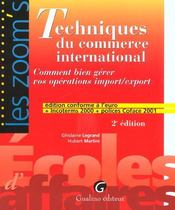 Vente  Techniques commerce international  - Legrand/Martin