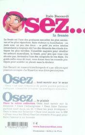 Osez ; La Fessée - 4ème de couverture - Format classique
