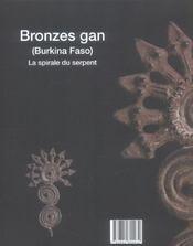 Bronzes gan ; la spirale du serpent - 4ème de couverture - Format classique