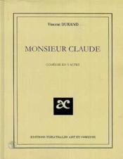 Monsieur claude - Couverture - Format classique